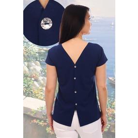Блузка Фантастика 11684 синяя р 50 фото