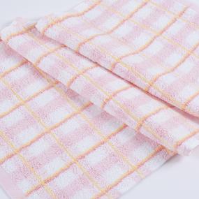 Полотенце махровое Sunvim 18В-7 Светлая клетка 50/90 см цвет розовый фото