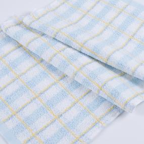 Полотенце махровое Sunvim 18В-7 Светлая клетка 50/90 см цвет голубой фото
