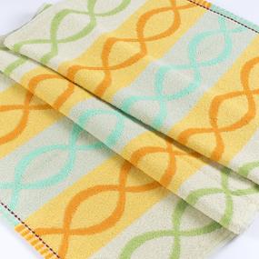 Полотенце махровое Sunvim 12В-27 Цветная косичка 50/90 см цвет зеленый фото