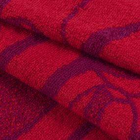 Полотенце махровое Море тюльпанов ПЛ-1302-03576 30/60 см цвет бордовый фото