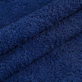 Махровая ткань 220 см 430гр/м2 цвет синий фото