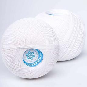 Нитки для вязания Снежинка 100% хлопок 230 м цвет 0101 белый фото
