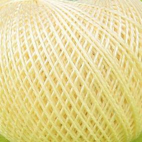 Нитки для вязания Ирис 100% хлопок 25 гр 150 м цвет банановый смузи фото