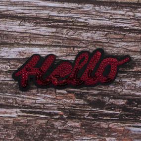 Аппликация Hello 5,5*15,5 см фото