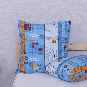 Наволочка Бязь 133/3 Стамбул цвет голубой в упаковке 2 шт 70/70 см фото