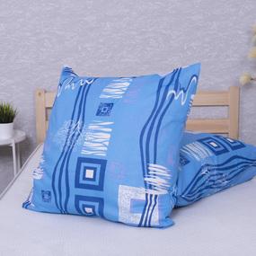 Наволочка Бязь 348/1 Пикассо цвет голубой в упаковке 2 шт 70/70 см фото