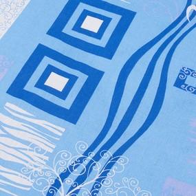 Комплект простыня 1.5 сп + 1 нав. 70/70 бязь 348/1 Пикассо цвет голубой фото