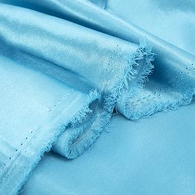 Ткань на отрез креп-сатин 1960 цвет морская волна фото