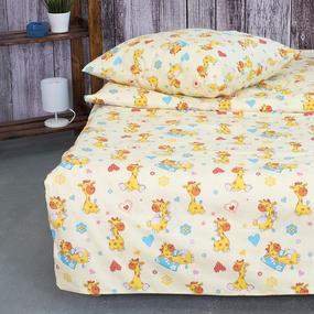 Детское постельное белье из поплина 1.5 сп 1644 Жирафики фото