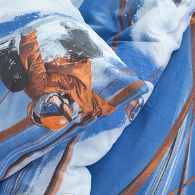 Детское постельное белье из поплина 1.5 сп 1635 Горнолыжник фото