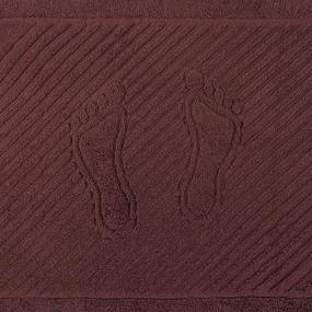 Полотенце махровое ножки 700 гр/м2 Туркменистан 50/70 см цвет горячий шоколад фото