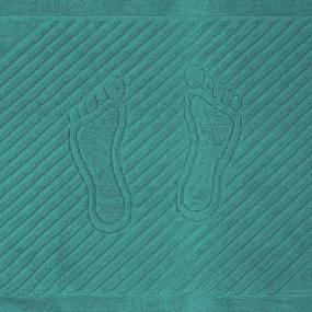 Полотенце махровое ножки 700 гр/м2 Туркменистан 50/70 см цвет темный изумруд фото