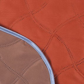 Покрывало ультрастеп двухстороннее цвет оранжевый-коричневый 150/210 фото