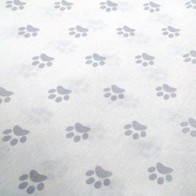 Бязь плательная 150 см 462/17 Лапки цвет серый фото