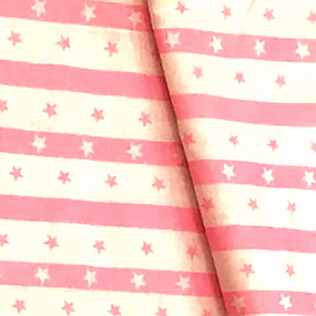 Бязь плательная 150 см 477/2 Звезды на полосе цвет розовый фото