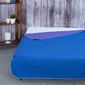 Покрывало ультрастеп двухстороннее цвет синий-фиолетовый 150/210 фото