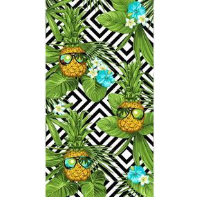 Полотенце вафельное пляжное 3030-2 Ананас 150/75 см фото