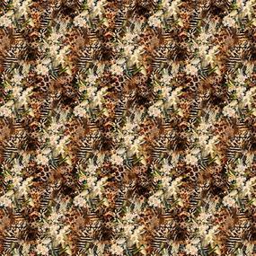 Перкаль 220 см набивной арт 239 Тейково рис 6839 вид 1 Джангл фото