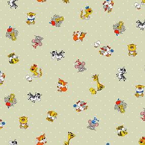 Ткань на отрез бязь детская 150 см 1408/2 цвет бежевый фото