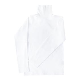 Водолазка детская однотонная цвет белый рост 104 фото