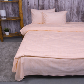 Пододеяльник из перкаля 204934 Эко 4 персиковый, 1,5 спальный фото