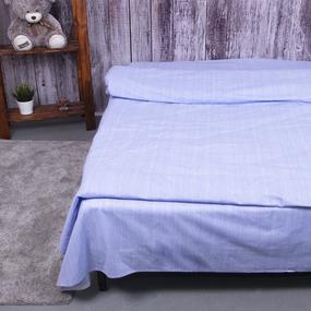 Пододеяльник из перкаля 2049313 Эко 13 голубой, 1,5 спальный фото