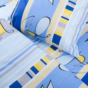 Постельное белье из бязи ГОСТ 116/1 Гимнастка цвет голубой 1.5 сп с 1-ой нав. 70/70 фото