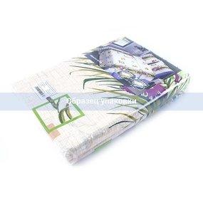 Постельное белье бязь ГОСТ 134/2 Ирисы зеленый 1.5 сп с 1-ой нав. 70/70 фото