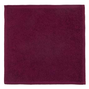 Салфетка махровая цвет 945 бордо 30/30 см фото