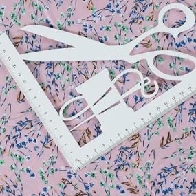 Ткань на отрез штапель 145 см 20039 Цветочный блюз цвет розовый фото