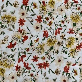 Ткань на отрез штапель 145 см 20040 Романтика цвет белый фото