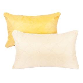 Подушка декоративная чехол шелк ультрастеп желтый 50/70 фото