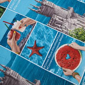 Полотенце вафельное пляжное 11044/1 Крым 150/75 см фото