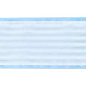 Лента для бантов ширина 80 мм (25 м) цвет голубой фото
