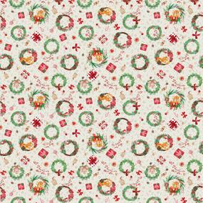 Ткань на отрез вафельное полотно набивное 150 см 29047/1 Holiday фото