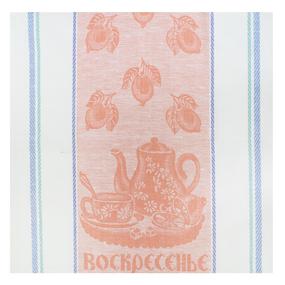 Полотенце лен 170гр/м2 Воскресенье цвет персик 50/50 уценка фото