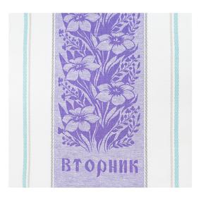 Полотенце лен 170гр/м2 Вторник цвет фиолетовый 50/50 уценка фото