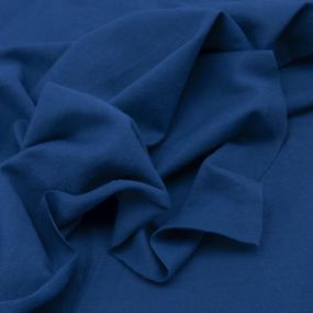 Ткань на отрез пике цвет синий фото