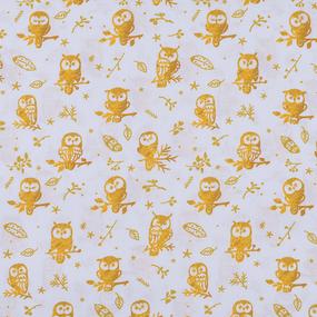 Перкаль 150 см набивной арт 140 Тейково рис 13273 вид 1 Little owls Компаньон фото