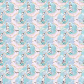 Перкаль 150 см набивной арт 140 Тейково рис 13234 вид 1 Owls Модель 4 фото
