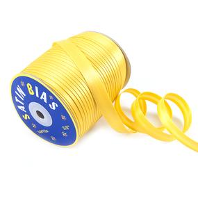 Косая бейка ширина 15 мм (144 ярд) цвет 110 желтый фото