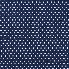 Ткань на отрез перкаль 150 см 232/1 Горох цвет темно-синий фото