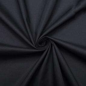 Ткань на отрез поплин гладкокрашеный 220 см 115 гр/м2 цвет черный Актив фото