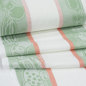 Полотенце полулен 3 шт 50/70 см Жаккард 4216/4 цвет зеленый фото