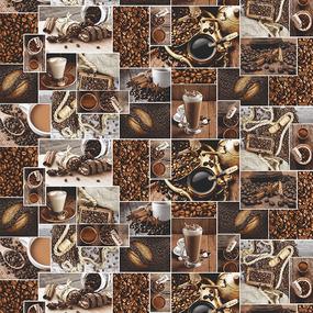 Полотно вафельное 150 см набивное арт 149 Тейково рис 30166 вид 1 Аромат кофе фото