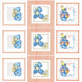 Ситец 80 см платки носовые детские ТР 9168 фото