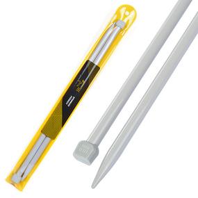 Спицы для вязания прямые Maxwell Gold Тефлон 6590 10,0 мм 35 см 2 шт фото