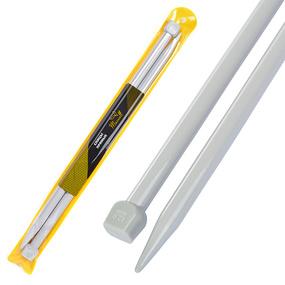 Спицы для вязания прямые Maxwell Gold Тефлон 6606 12,0 мм 35 см 2 шт фото