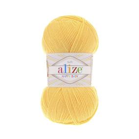 Пряжа ALIZE HAPPY BABY 187-лимонный (35% полиамид 65% акрил) фото